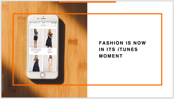 Fashion is now in its iTunes moment