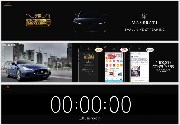 Maserati campaign on Alibaba