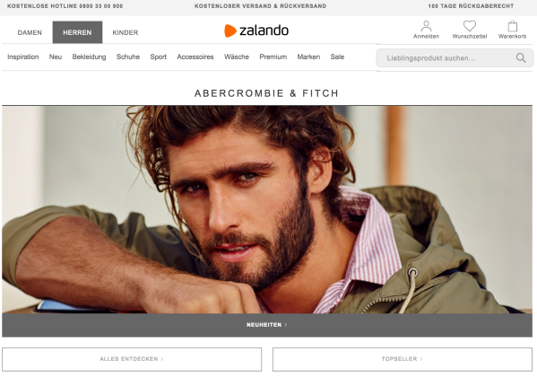 Abercrombie & Fitch on Zalando