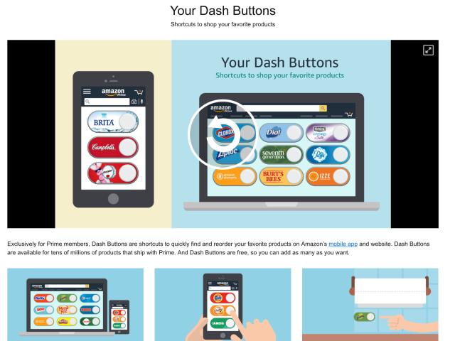 Virtual Dash Buttons
