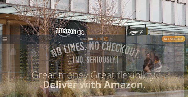 Amazon Go + Amazon Flex
