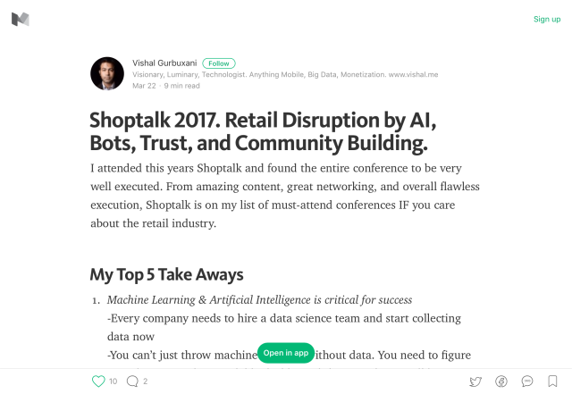 The Wave of Retail Disruption, as Seen at Shoptalk 2017