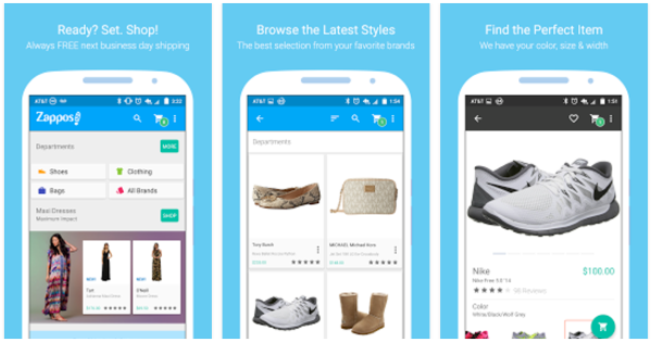 Zappos app