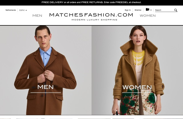 MatchesFashion Goes to Apax for £800m